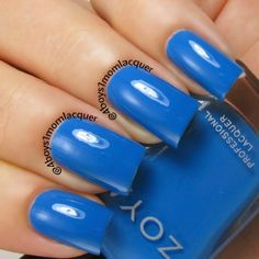 Love Blue Nail Polish?  Zoya Ling from the Zoya Tickled Collection is a great Summer hue. Available on http://www.zoya.com