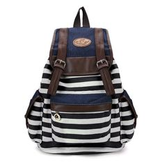 Details Material Canvas Color Blue,Rose Red,Coffee,Red Weight 480g Length 30cm(11.8'') Height 40cm(15.7'') Width 16cm(6.29'') Pattern Striped Inner Pocket Cell Phone Pocket Closure Hasp Package includ