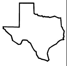 texas outline | Use these free images for your websites, art projects, reports, and ...