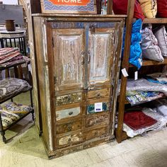 Panel Wood Storage Cabinet Item 510922 Measures: 33x16x58 Priced at $499 - #reclaimed #rustic #rusticdecor #rusticfurniture #reclaimedfurniture #armoire #cabinet #storage