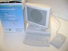 on eBay by MsFrugaLady:   Mini PC Design Desktop Mouse FM Scan Radio Desk Accessory Travel Decor | eBay