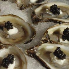 Kumamoto Oysters, Creme Fraiche, Caviar
