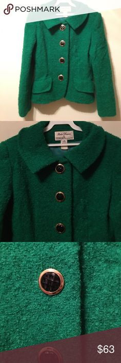 Rickie Freeman for Teri Jon Silhouettes jacket 8 Absolutely fabulous designer jacket. 23 inch length 18 inch it's the 10th laying flat 15 inch waist line laying flat Jackets & Coats