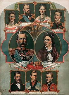 Alexander II and family