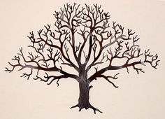 Oak Tree Large Metal Wall Art - Large Metal Wall Art