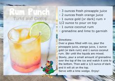 It's 5 O'Clock - here. We take you down to Turks and Caicos on this Thirsty Thursday.  Enjoy your Rum Punch.  #BoatDrinks #ParrotHeads