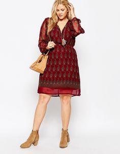 Image 4 ofDiya Plus Paisley Print Wrap Dress