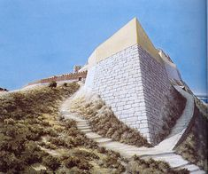 Troy VI North East bastion reconstruction  (Copyright by Christoph Haussner Munich)