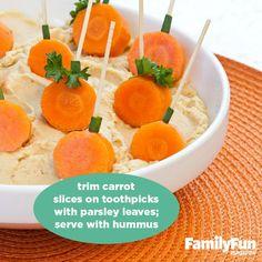 Carrot pumpkin dippers!