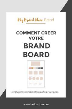 Creer une brand board