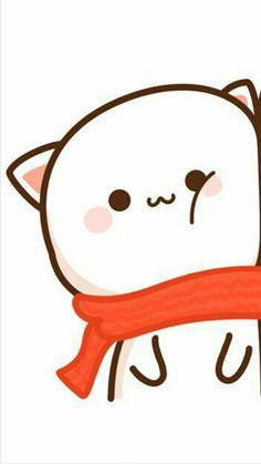 Wallpaper Gatos, Kawaii Wallpaper, Kawaii Doodles, Cute Kawaii Drawings, Chibi Cat, Cute Chibi, Best Friend Wallpaper, Cute Cat Illustration, Cute Couple Wallpaper