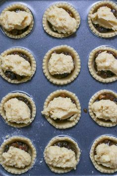 The best mince pies are these Frangipane Mince Pies with homemade pastry - serve warm or cold for a delicious traditional Christmas snack. Best Mince Pies, Homemade Mince Pies, Homemade Pastries, Mince Meat, Tart Recipes, Sweet Recipes, Baking Recipes, Dessert Recipes, Baking Pies