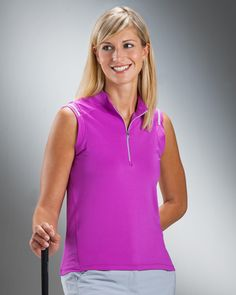 Nancy Lopez Ladies Sleeveless Golf Shirts (Shine) - Assorted Colors