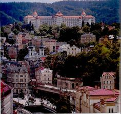 Karlovy Vary - best spa town in Czech Republic.  I want some hot springs in my life!