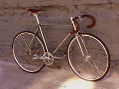 Fixed gear, Chromoly frame RAW steel bike. Yummy