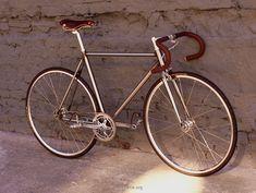 Fixed gear, Chromoly frame RAW steel bike. Yummy