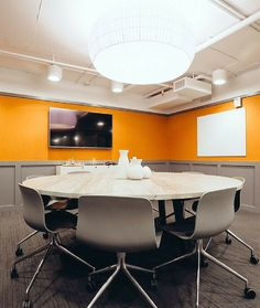 Best Conference Rooms Images On Pinterest Office Spaces - Large round meeting table