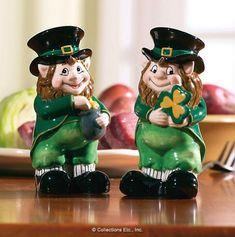 Lovable Irish Leprechaun Salt U0026amp; Pepper Shaker Set Collections Etc  Http://www