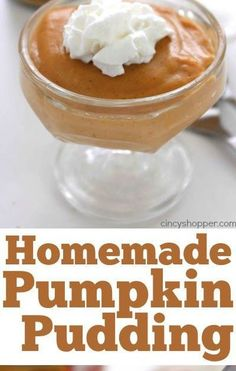 New Pin on Board: Web Pixer Pumpkin Pudding, Pumpkin Puree, Whipped Topping, Whipped Cream, Vegetarian Recipes, Cooking Recipes, Daily Meals, Corn Starch, Serving Dishes