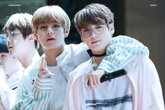 v / taehyung / jungkook / glasses / taekook / kookv / vkook /cute / bts