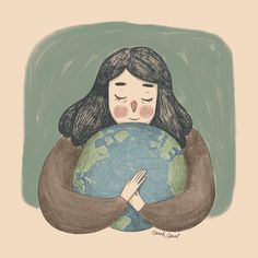 take care of our planet every day tho xoxo – interjectural-recom - happy earth day! take care of our planet every day tho xoxo happy earth day! take care of our pla - Illustration Mignonne, Art Et Illustration, Tableaux D'inspiration, Art Mignon, Anime Art Girl, Aesthetic Art, Cartoon Art, Cute Drawings, Art Sketches