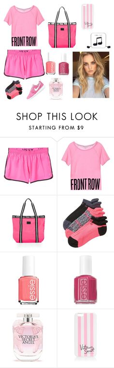 """Untitled #96"" by emilychen-778 on Polyvore featuring Essie, NIKE, Victoria's Secret and Happy Plugs"