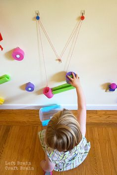 Make this awesome pool noodle engineering wall with your kids for some fun summertime STEM learning. Preschool At Home, Preschool Science, Life Science, Stem Projects, Science Fair Projects, Steam Activities, Activities For Kids, Teaching Activities, Rube Goldberg Machine