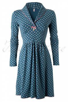 Blutsgeschwister - 60s Inupiat Petrol Polar Star Dress