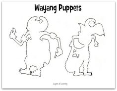 Wayang puppets are from the culture of Indonesia. Print our template and craft it into puppets of your own.