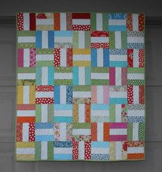 """my first finished quilt of the year for a friend's daughter finished size 42"""" x 48"""" named by susan (sulu-design)"""