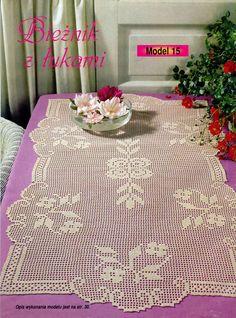 Kira scheme crochet: Scheme crochet no. Filet Crochet, Crochet Lace Edging, Crochet Doily Patterns, Crochet Borders, Crochet Diagram, Crochet Art, Crochet Home, Crochet Doilies, Crochet Table Runner