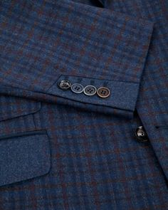 Sterling check jacket - Navy   Suits   Ted Baker