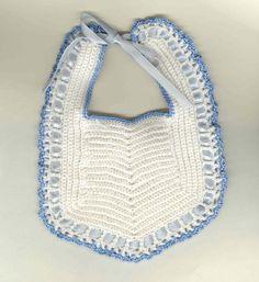 vintage crocheted baby bib
