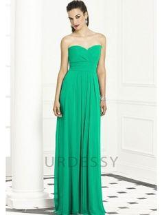 Online Floor-Length Sleeveless Chiffon Mint Green Bridesmaids Dress. Get it here:  http://www.urdessy.co.uk/online-floor-length-sleeveless-chiffon-jade-bridesmaids-dress-reading