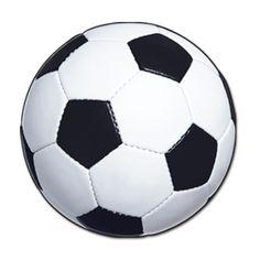 Cutout Party Deko Fußball aus beidseitig-bedruckte Pappe, 34cm Durchmesser. Ideal als Wanddeko oder von der Decke zu hängen auf Deiner Fußballparty!