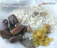 Yet another favourite Prasad offered to Lord Ganesha during this festival is Panchakhadya. Made from 5 ingredients therefore the name! Full of dry fruits and dry coconut, don't forget to feast on this delicious dish. :) :) #GanpatiBappaMorya #Foodie