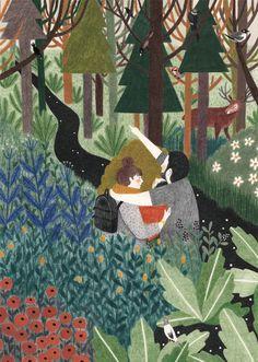 Liekeland é o mundo encantado da ilustradora Lieke van der Vorst, criado no seu estúdio em Eindhoven, na Holanda. Adorável.