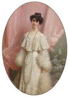 Vittorio Matteo Corcos (1859-1933) — Portrait of Yole Biaggini Moschini, 1904 (830×1157)