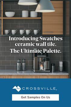 Ceramic Wall Tiles, Porcelain Tile, Tile Projects, Color Stories, Interior Walls, Kitchen Remodeling, Free Samples, Bathroom Medicine Cabinet, Interior Inspiration