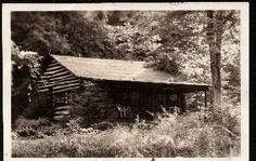 Looney Cabin-Buchanan County, Virginia  Home of Isaac Looney, grandson of Joseph. The cabin was in Vansant near the Big Prater, photo taken about 1940