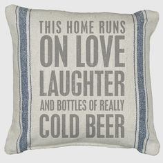 Really Cold Beer Throw Pillow