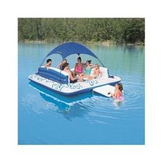 US $298.06 New in Home & Garden, Yard, Garden & Outdoor Living, Pools & Spas http://www.ebay.com/itm/Tropical-Floating-Island-With-Canopy-Giant-6-Person-Inflatable-Raft-W-Sun-Shade-/301917505716?hash=item464baf88b4:g:urIAAOSwGYVXAGv4