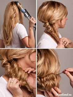 Hair style. Fish Tail Braid Bun. =)