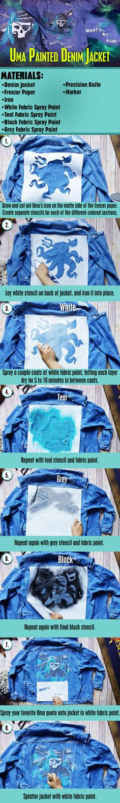 Descendants 2 - Uma Painted Denim Jacket DIY | Ride with the Tide, and create your own Uma-inspired denim jacket!