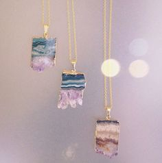 Amethyst slice with druzy boho pendant necklace on gold filled chain