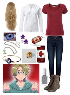 """""""Hetalia: Daughter of Canada"""" by ender1027 ❤ liked on Polyvore featuring White Stuff, Anine Bing, CellPowerCases, River Island and Disney"""