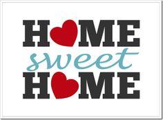 Home Sweet Home Free Printable | [ One Velvet Morning ]