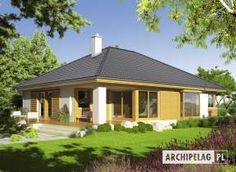 Eris II (wersja C) - projekt domu - Archipelag Raised Bed Garden Design, Bungalow House Plans, Home Design Plans, Design Case, Log Homes, House Rooms, Exterior Design, Gazebo, Bali