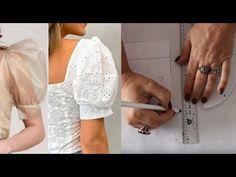 Vídeo ensinando a fazer molde de manga bufante, fofa e camponesa – aula 217 – Marlene Mukai Techniques Couture, Sewing Techniques, Sewing Blogs, Sewing Tutorials, Vintage Fashion Sketches, Costura Fashion, Sewing Collars, Sewing Sleeves, Pola Lengan