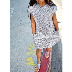 Bedrukte jurk in molton